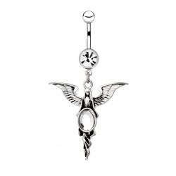 Piercing ombligo angel 05 - Strass ovale