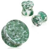 Plug curvo en jade africaine