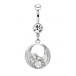 Piercing ombligo angel 17 - círculo y strass