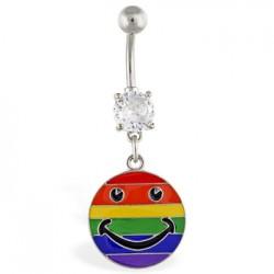 Piercing ombligo Gay pride 09 - Smiley