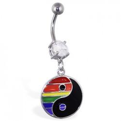Piercing ombligo Gay pride 08 - Yin yang