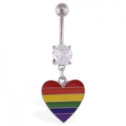 Piercing ombligo Gay pride 10 - corazón