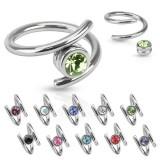 Piercing anillo 1,6mm 19 - estilo twister