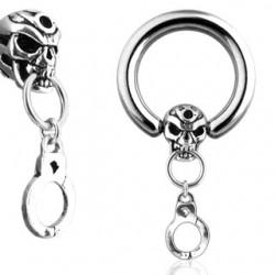 Piercing anillo 1,6mm 27 - Death esclavo