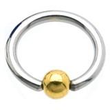 Piercing micro-bcr 81 - acero y chapado-oro