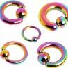 Piercing anillo PVD rainbow 02 à 06mm