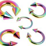 Piercing circular PVD rainbow Picos 2 à 6mm