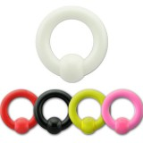 Piercing anillo acrílico UV unicolor 03 à 06mm