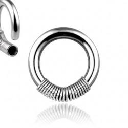 Piercing en acero anillo primavera 2 à 3mm