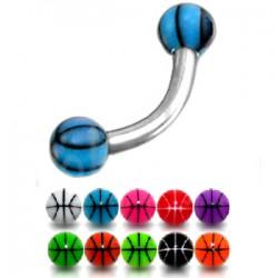 Piercing ceja acrílico 03 - UV basket Bolas