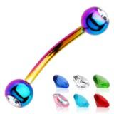 Piercing arcade 25 - PVD rainbow strass