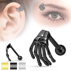 Piercing micro-barbell 15 - mano esqueleto