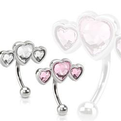 Piercing ceja 11 - Triple corazón