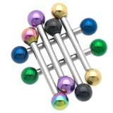 Piercing micro-barbell 56 - PVD y acero Bolas