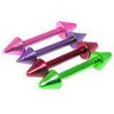Piercing micro-barbell 58 - PVD néon Picos