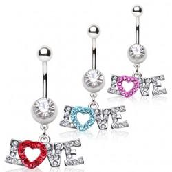 Piercing ombligo corazón 17 - Love