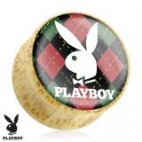 Plug curvo Playboy en madera D
