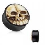 Plug curvo en cuerno y cráneo en résine 3D