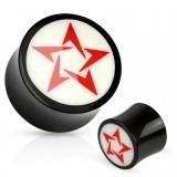 Plug curvo en cuerno estrella rojo
