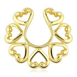 Falso-piercing de teton 08 - Gold-ip corazóns