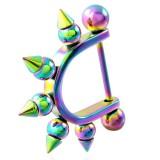 Pezón escudo 04 - Rainbow Bolas puntoues