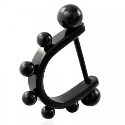 Pezón escudo 05 - negro Picos