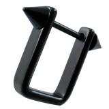Pezón escudo 10 - negro rectangular