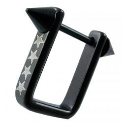 Pezón escudo 11 - negro rectangular estrella