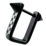 Pezón escudo 28 - negro con tablero de damas