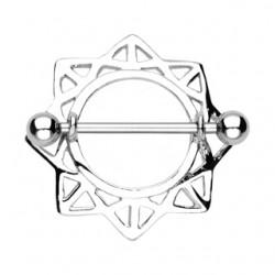 Piercing teton estrella 01 - con hueco