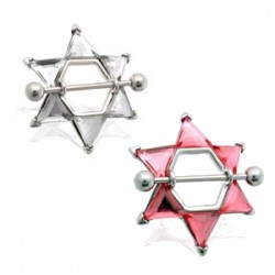 Piercing teton estrella 04 - Gros zirconas