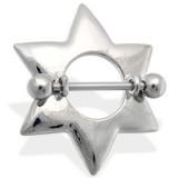 Piercing teton estrella 08 - sencillo grise