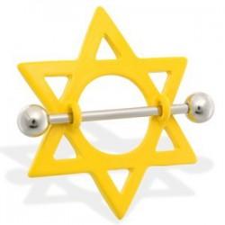 Piercing teton estrella 11 - amarillo