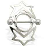 Piercing teton estrella 14 - círculo entouré
