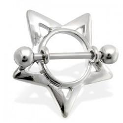 Piercing teton estrella 15 - hueco