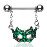 Piercing teton máscara de venecia fondo verde (13)