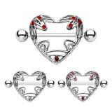 Piercing teton corazón majestuoso (21)