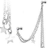 cadena de oreja 06 - estrella