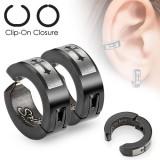 Falso-piercing oreja 39 - Clip cruz (los dos)