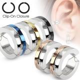 Falso-piercing oreja 42 - Clip gris y PVD (los dos)