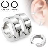 Falso-piercing oreja 44 - Clip gris (los dos)