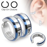 Falso-piercing oreja 45 - Clip azul y gris (los dos)