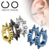 Falso-piercing oreja 48 - Clip Picos (los dos)