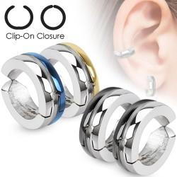 Falso-piercing oreja 49 - Clip bicolor (los dos)