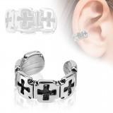 Falso-piercing oreja 57 - Anillo cruz