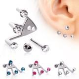piercing oreja original 15 - tres strass