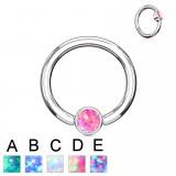 Piercing micro-bcr 138 - Strass plato opale