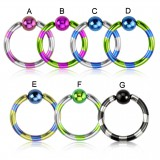 Piercing anillo 1,6mm 21 - PVD estriado