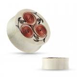 Plug en madera con fils de cuivre en espirales