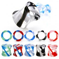 Plug acrílico glass twist